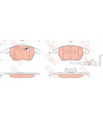 Zavorne ploščice TRW GDB 1550